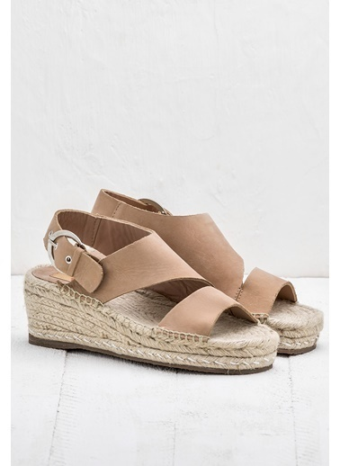 Elle Dolgu Topuklu Sandalet Ten